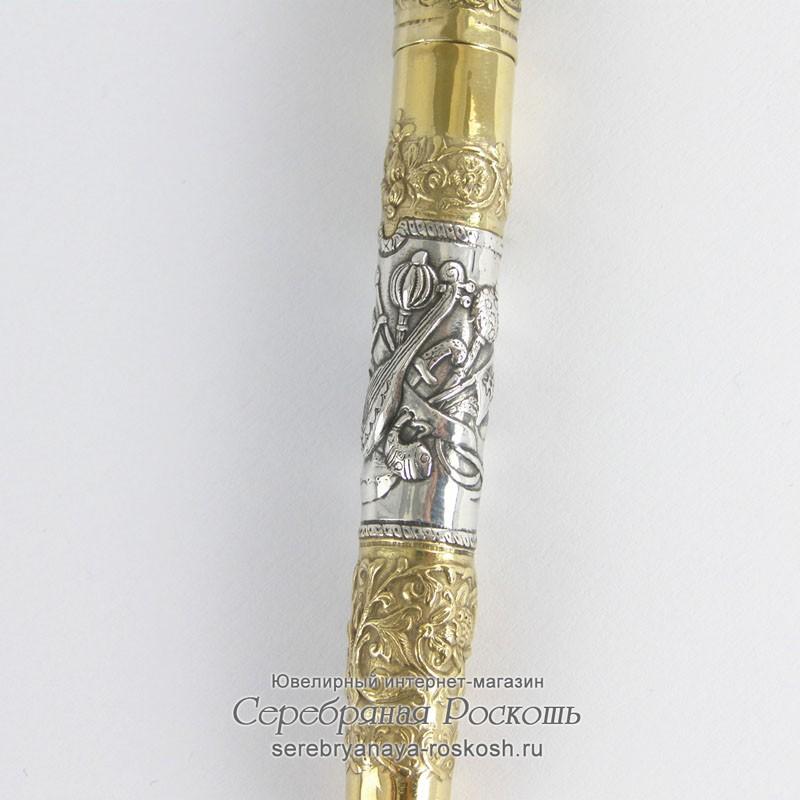 Подарочная ручка из серебра Казаки