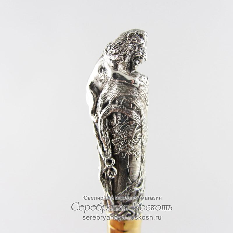 Серебряная подарочная ручка Лев