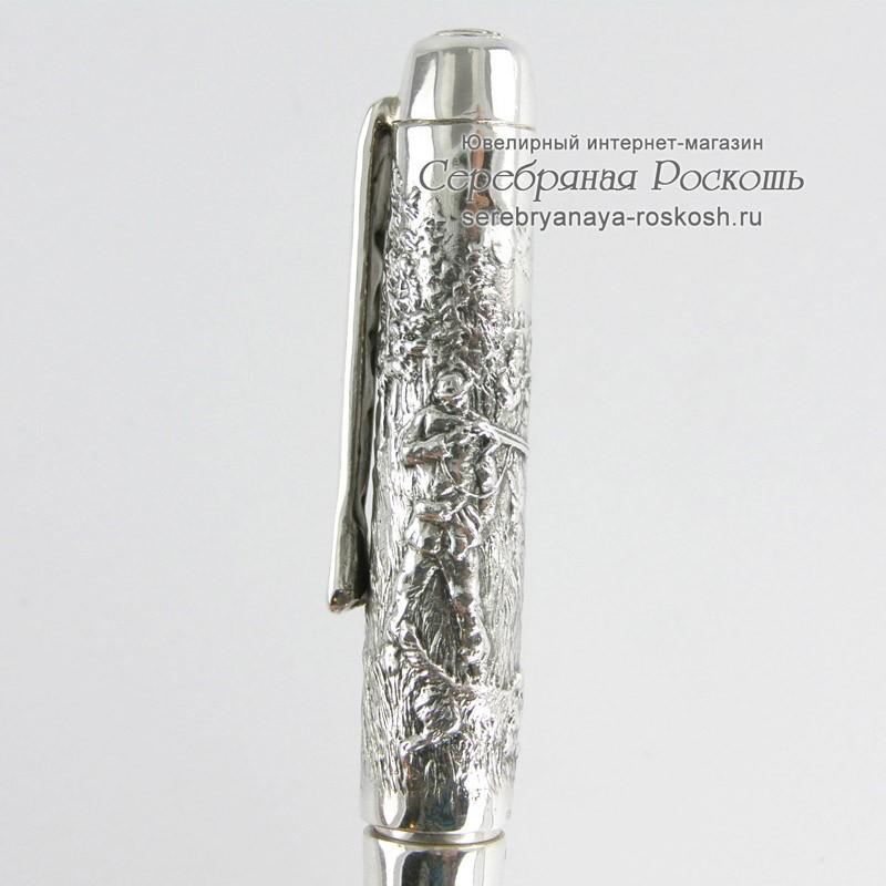 Серебряная подарочная ручка Охота