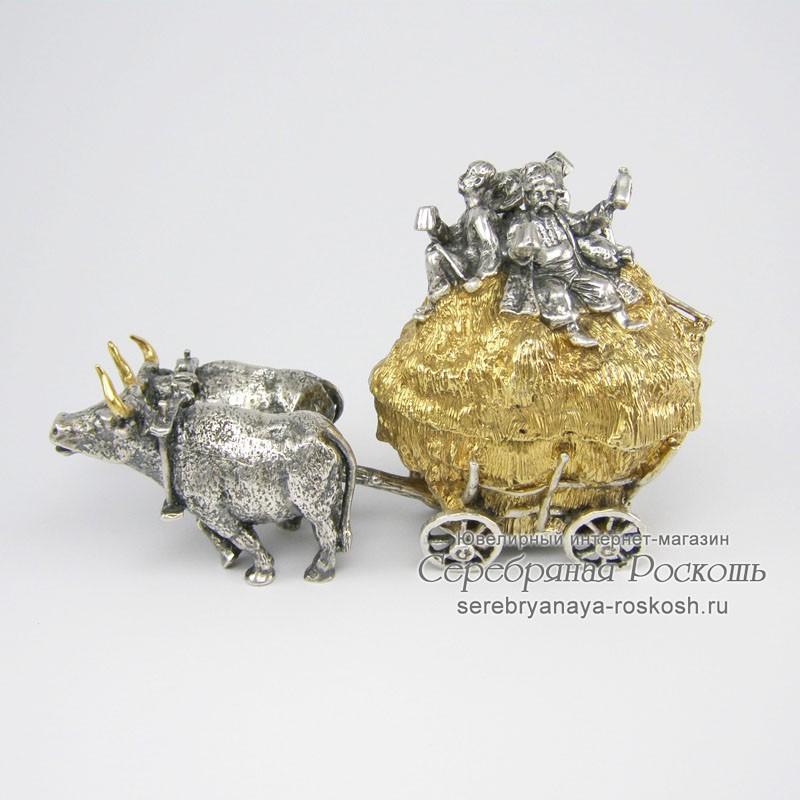 Серебряная шкатулка Волы