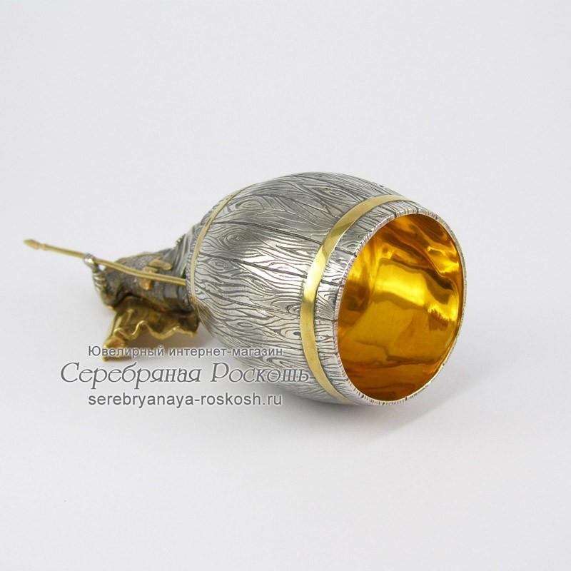 Серебряная штрафная рюмка Ледовое побоище