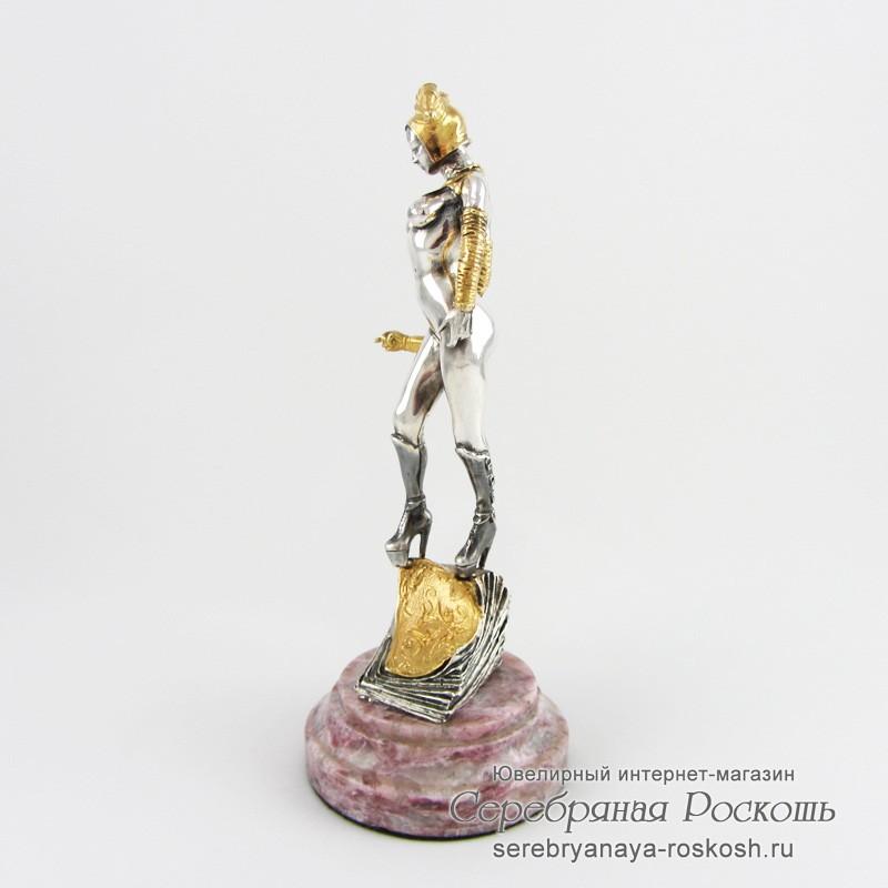 Статуэтка из серебра Джокер девушка