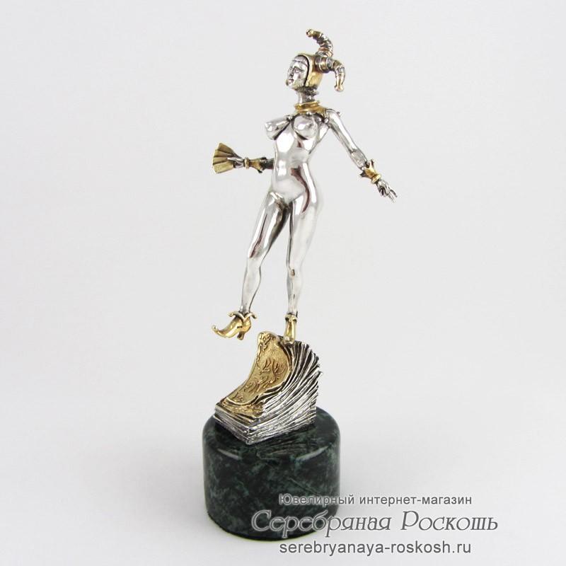 Серебряная статуэтка Джокер