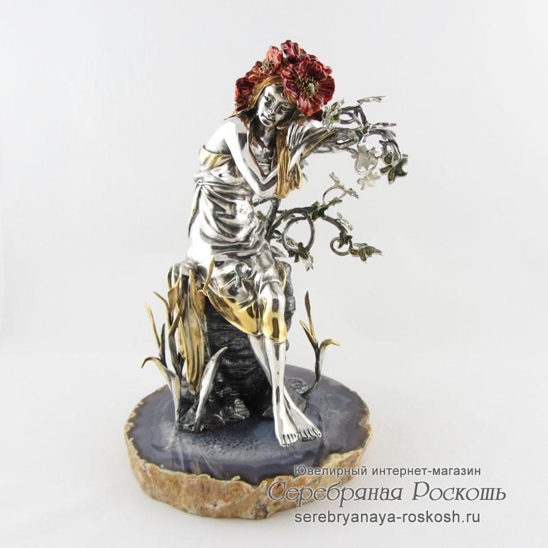 Серебряная статуэтка Девушка Лето