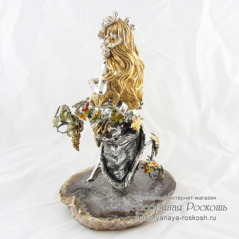 Серебряная статуэтка Девушка Осень