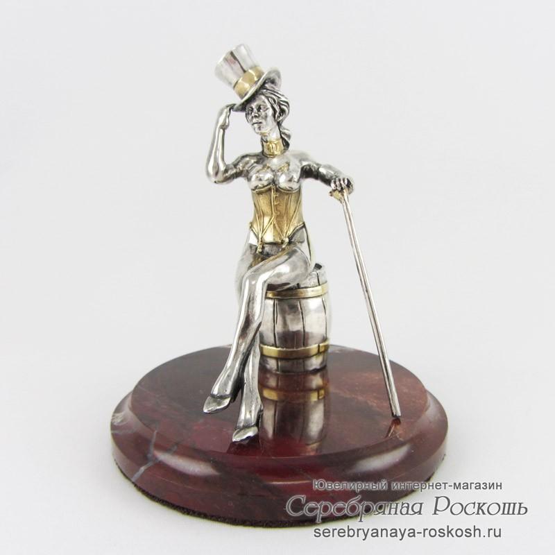 Серебряная статуэтка Танцовщица кабаре