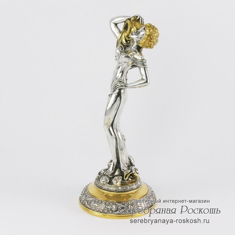 Серебряная статуэтка Девушка водолей