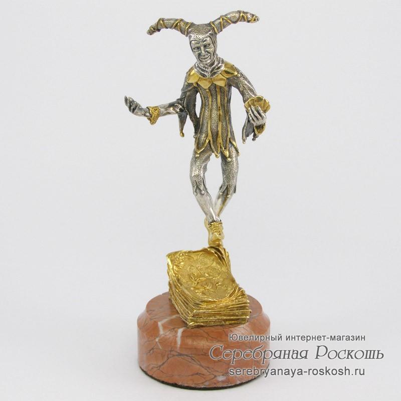 Статуэтка из серебра Джокер