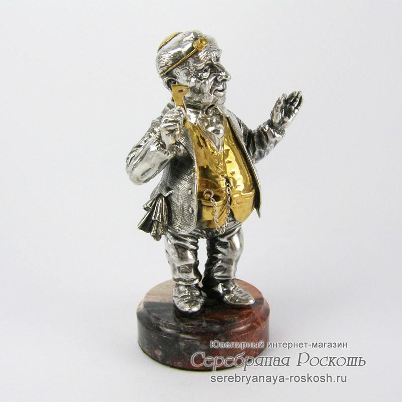 Статуэтка из серебра Еврей Изя ювелир