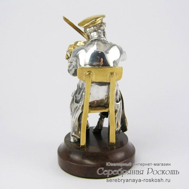 Статуэтка из серебра еврей скрипач