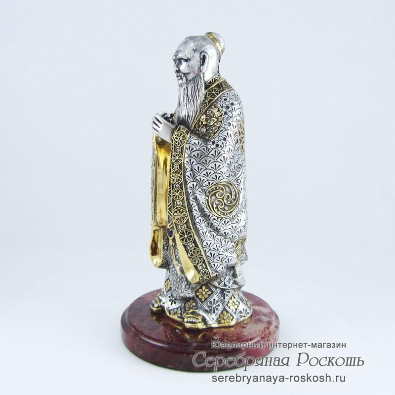 Серебряная статуэтка Конфуций