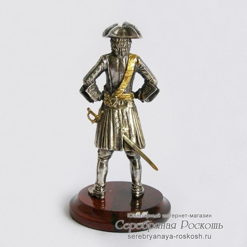 Серебряная статуэтка Пётр І