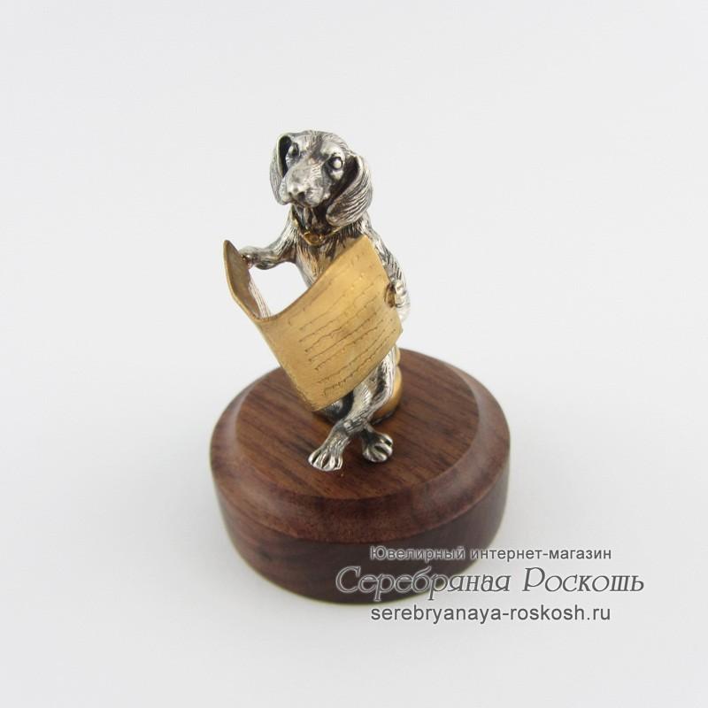 Статуэтка Собака на горшке