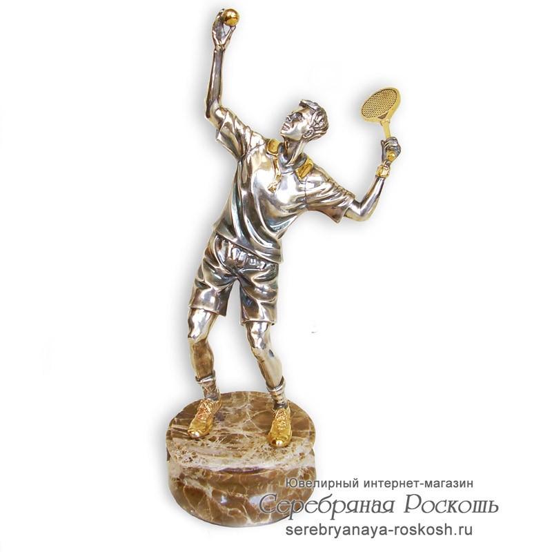 Серебряная статуэтка Теннисист