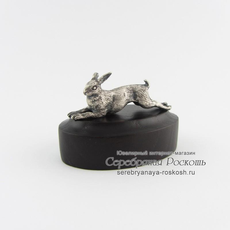 Статуэтка из серебра Заяц