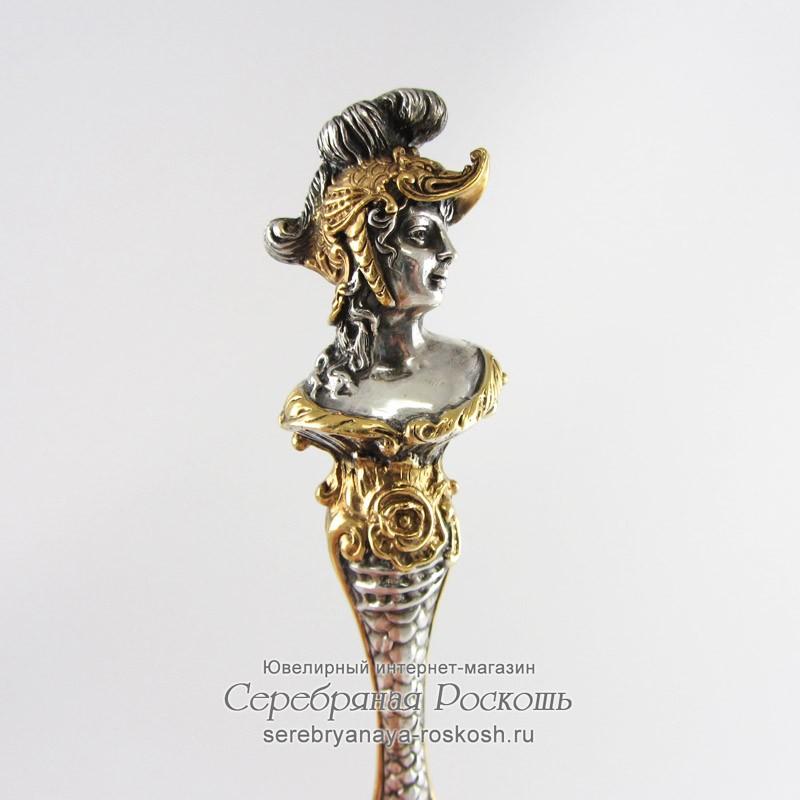 Столовая ложка из серебра Римлянка