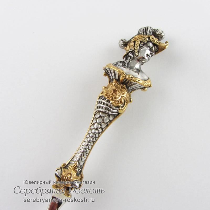 Столовая вилка из серебра Римлянка