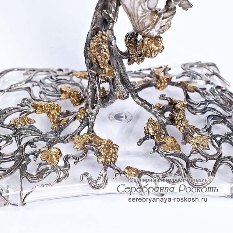 Серебряная ваза Девушка