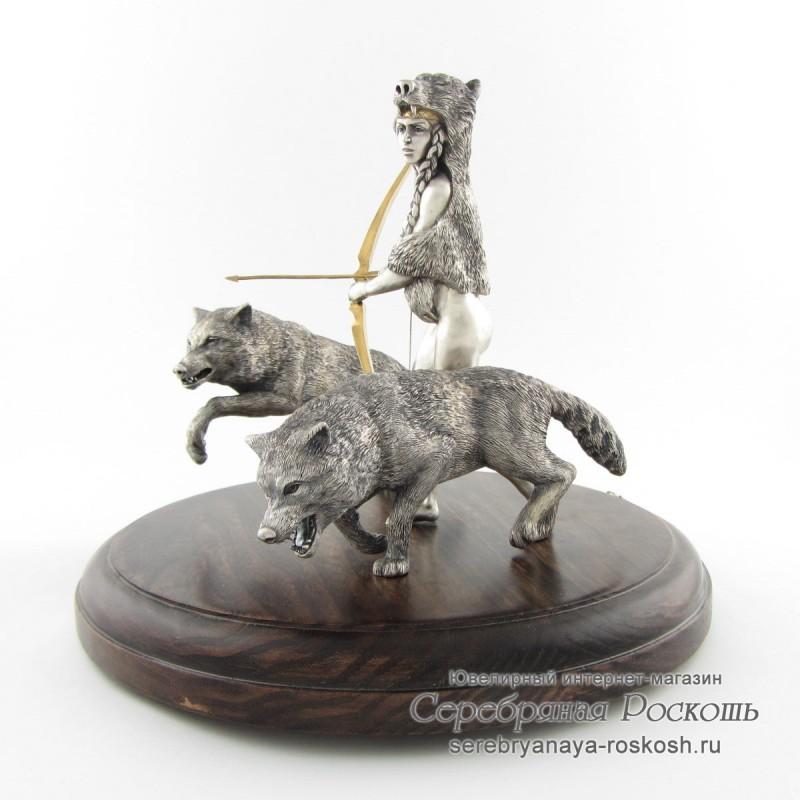 Серебряная статуэтка Богиня Девана