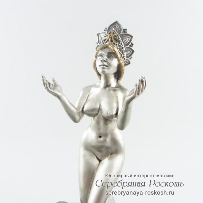 Серебряная статуэтка Богиня Лада