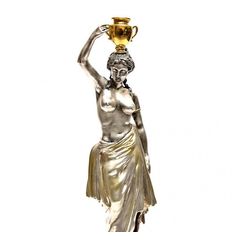 Серебряная статуэтка Девушка с амфорой