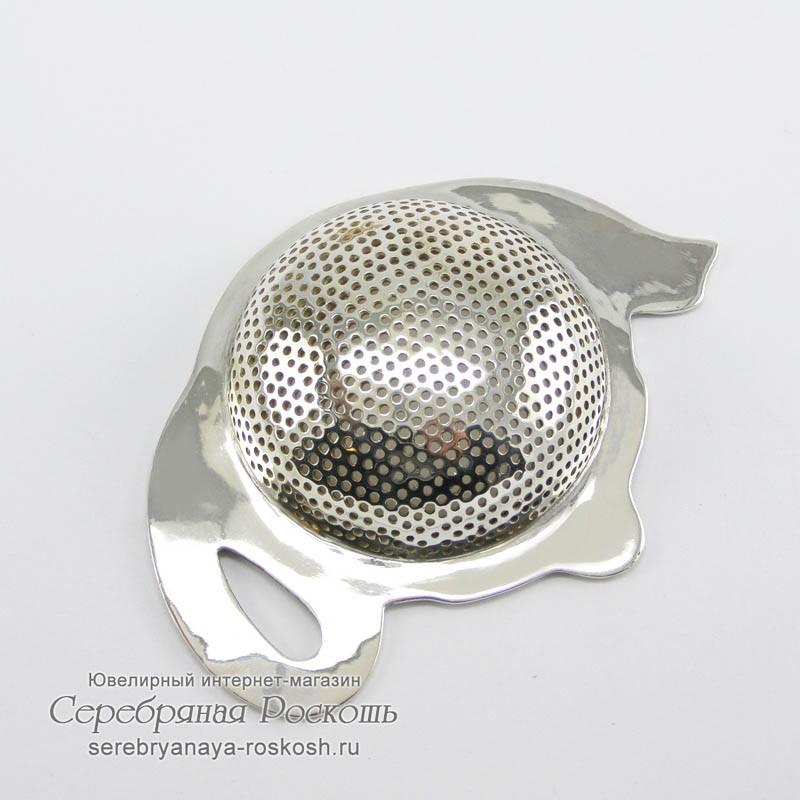 Серебряное ситечко для чая Чайник