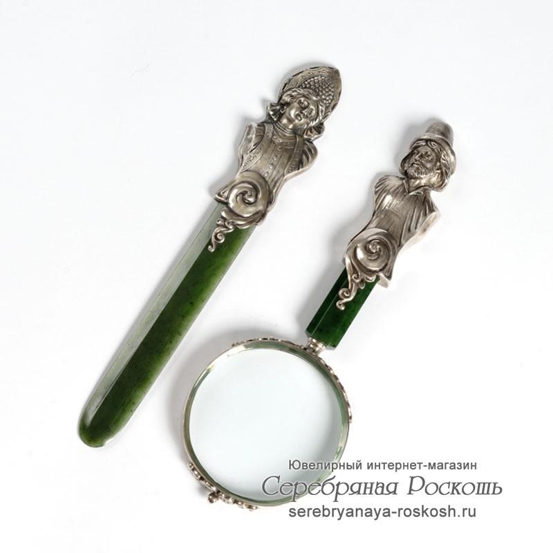 Набор лупа и нож для писем Хлебников