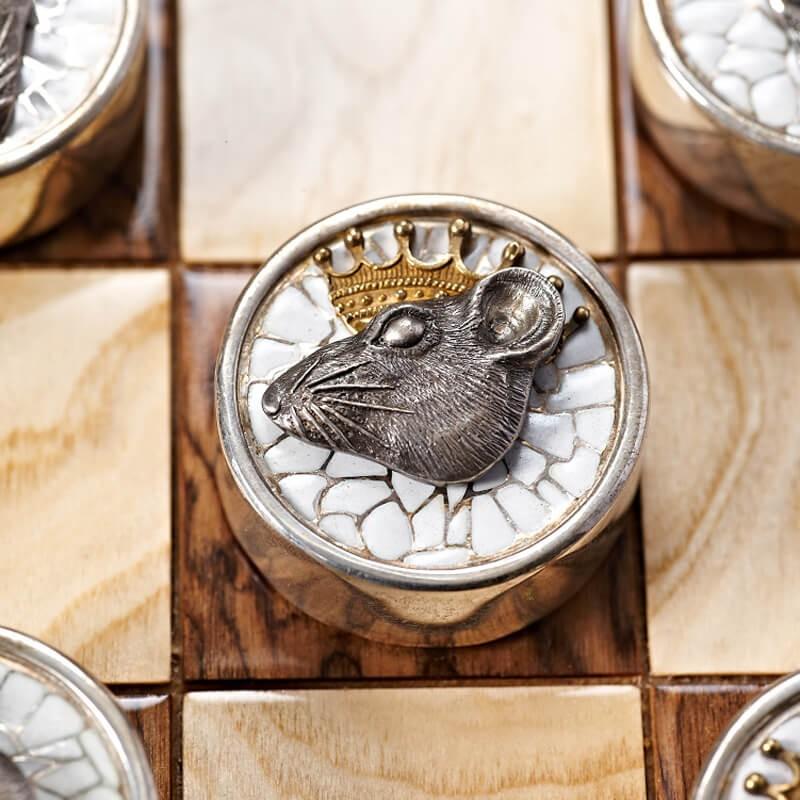 Серебряные шашки Вороны и Крысы - Крыса дамка