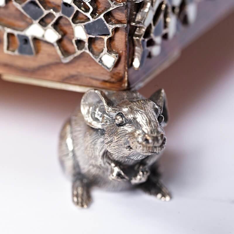Серебряные шашки Вороны и Крысы - Подставка крыса