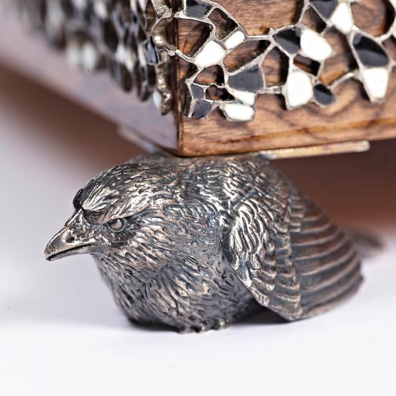 Серебряные шашки Вороны и Крысы - Подставка Ворон