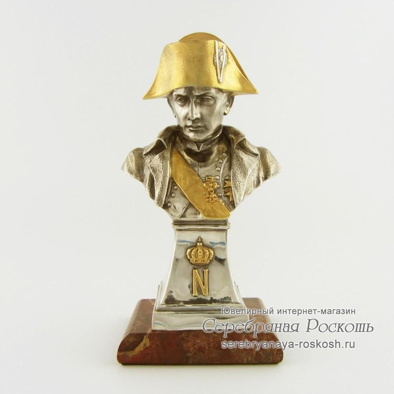 Серебряный бюст Наполеон Бонапарт