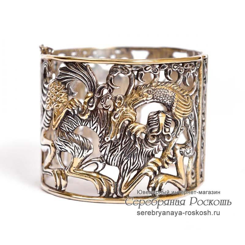 Серебряный браслет Мифы