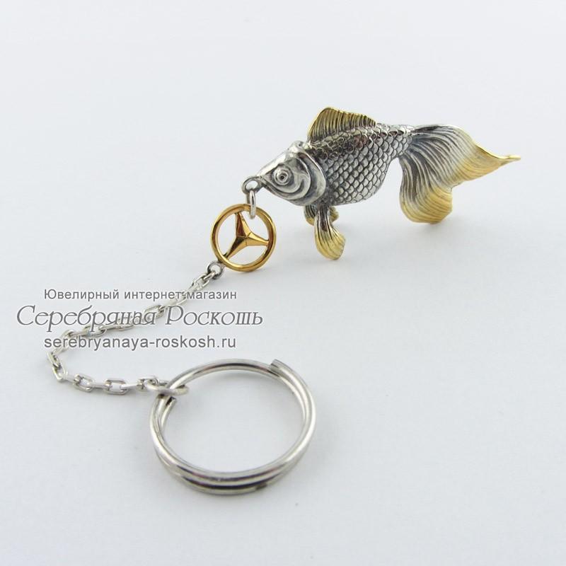 Брелок для ключей рыбка Mercedes