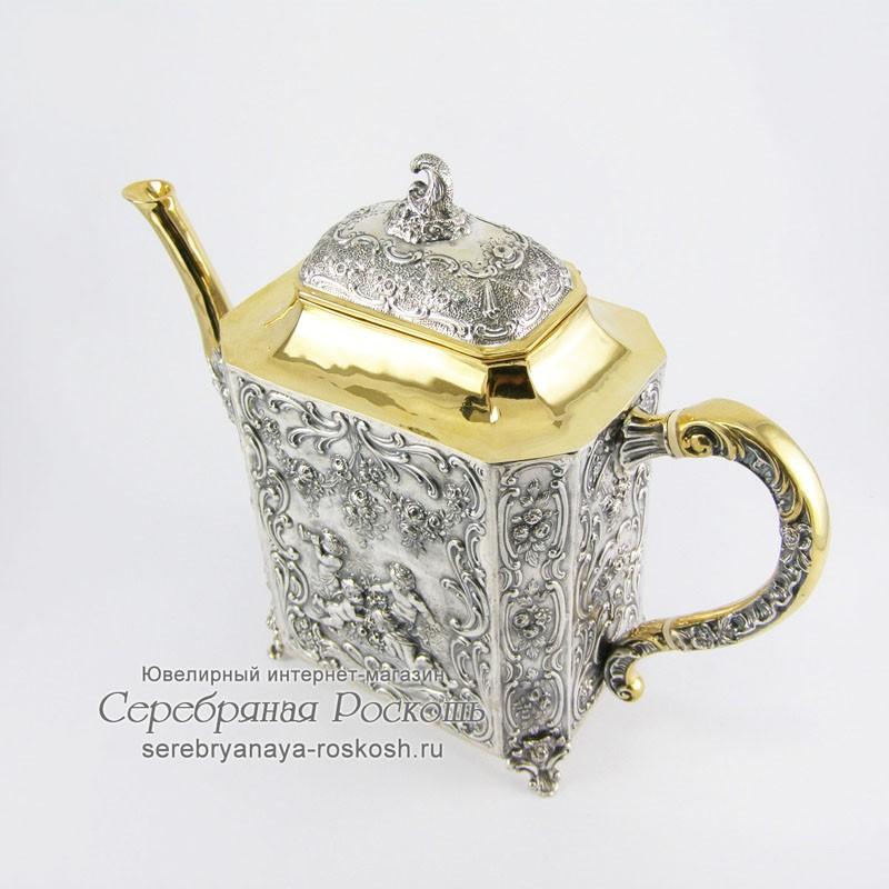 Серебряный чайник Райский сад