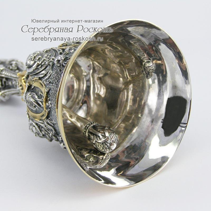 Серебряный колокольчик Ажурный