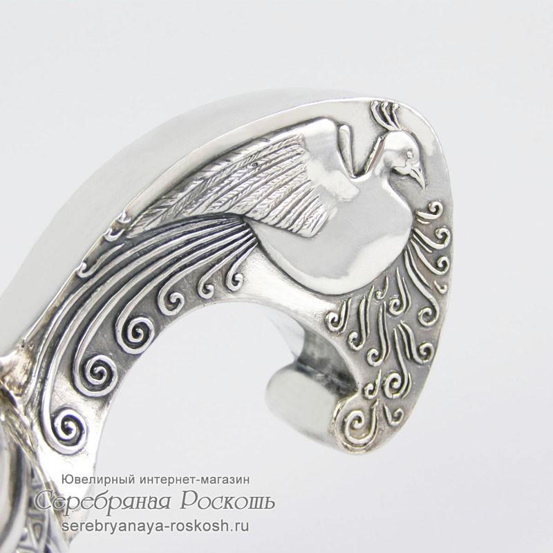 Серебряная братина - ковш Богатырь