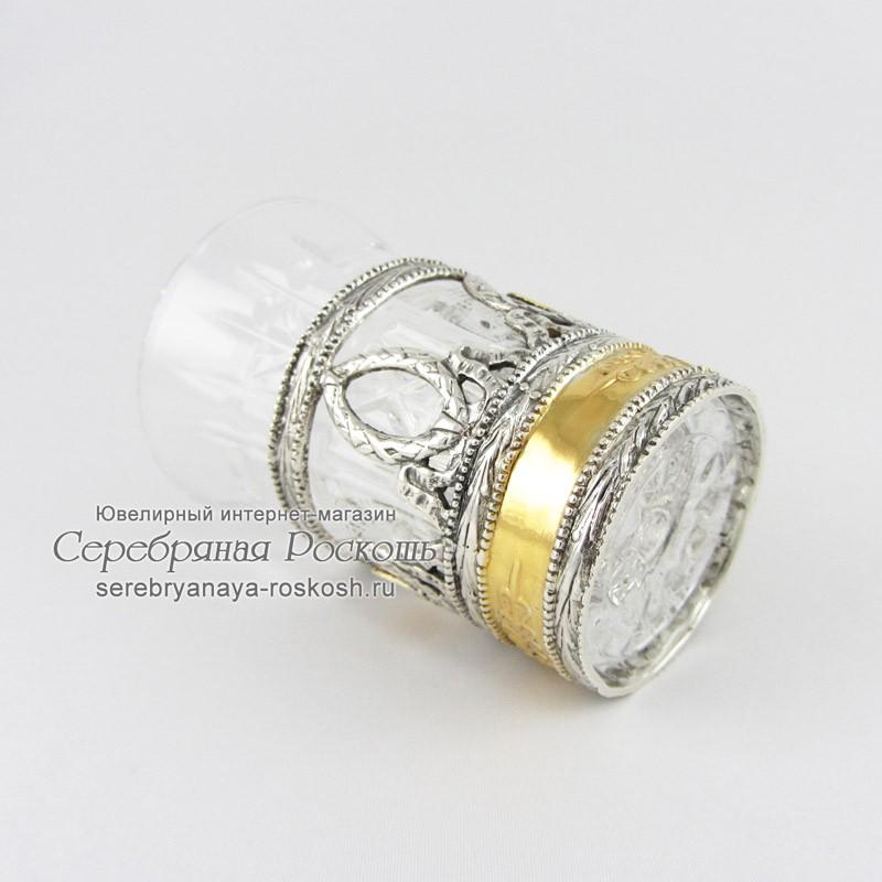 Хрустальная рюмка в серебре - Грифоны