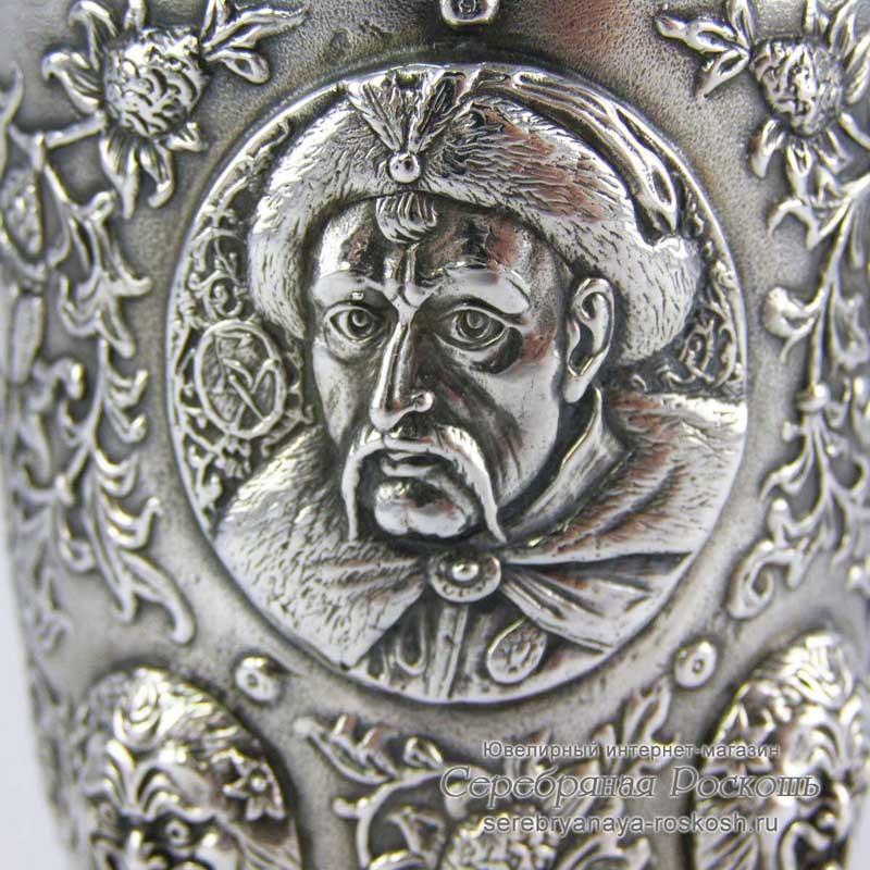 Серебряный стакан Богдан Хмельницкий