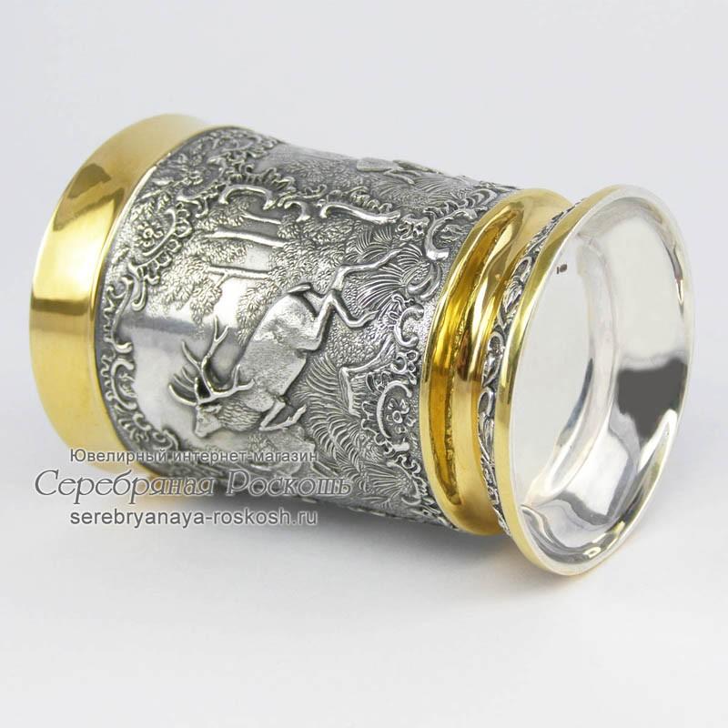 Серебряный стакан Охотник