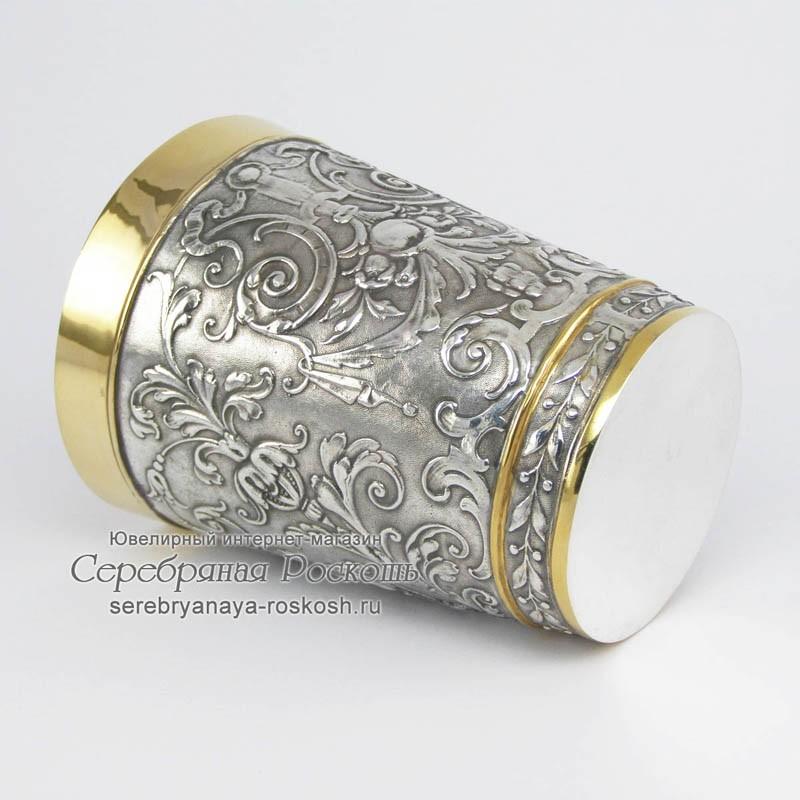 Серебряный стакан Рыцарь