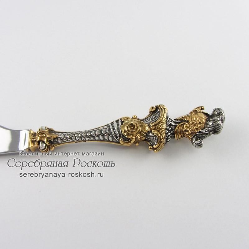 Столовый нож из серебра Римлянка