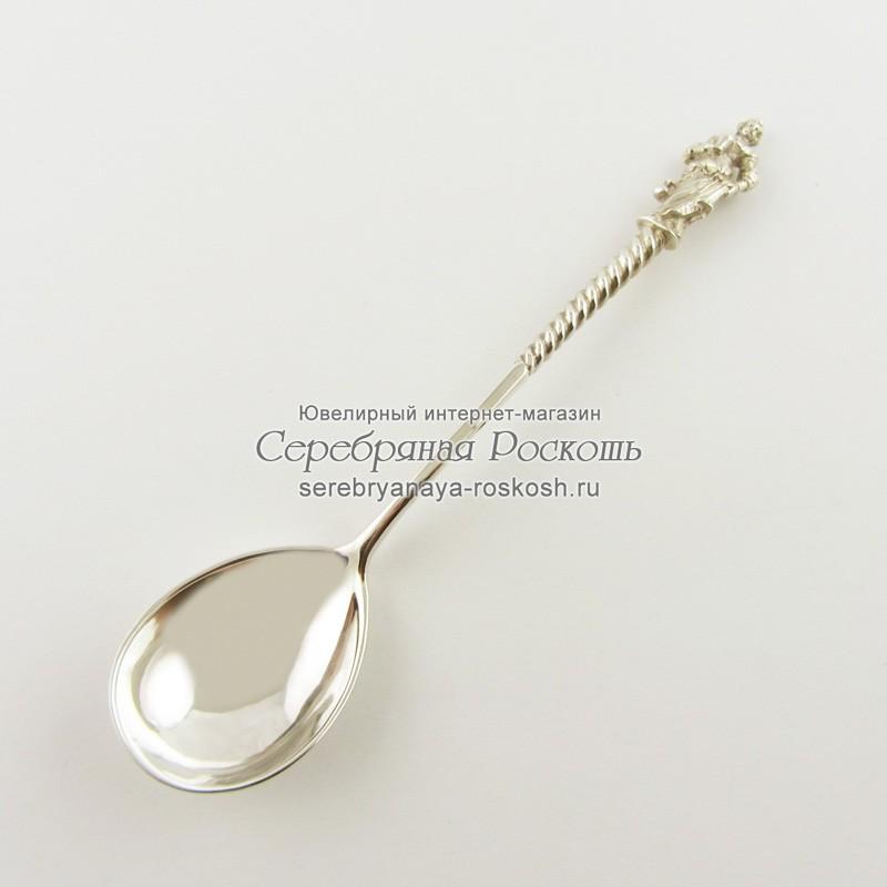 Серебряная чайная ложка Водонос