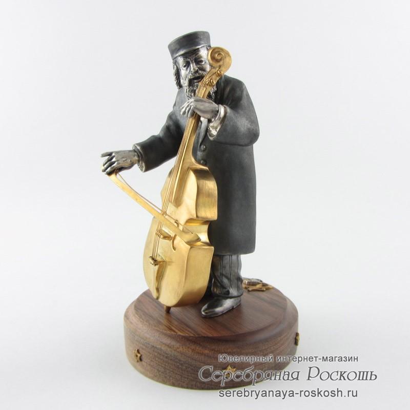 Статуэтка еврей с виолочелью