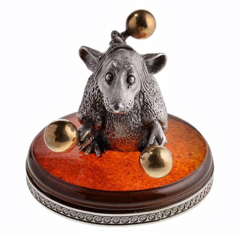 Серебряная Крыса с маракасами