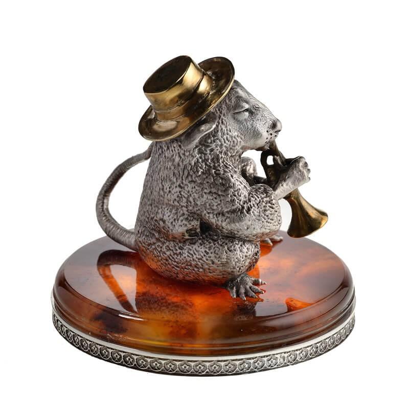 Серебряная Крыса с трубой