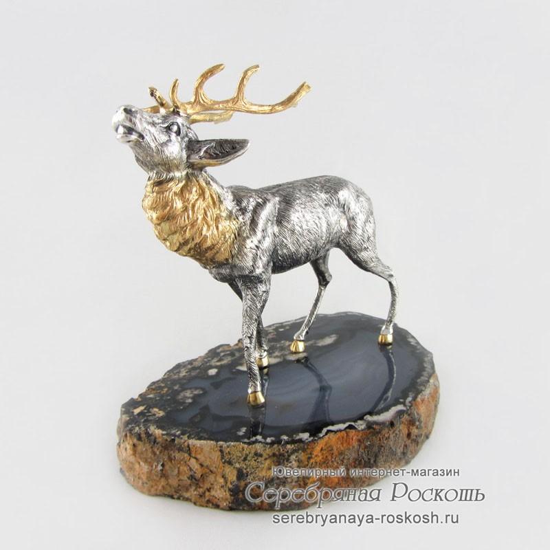 Серебряная статуэтка Олень