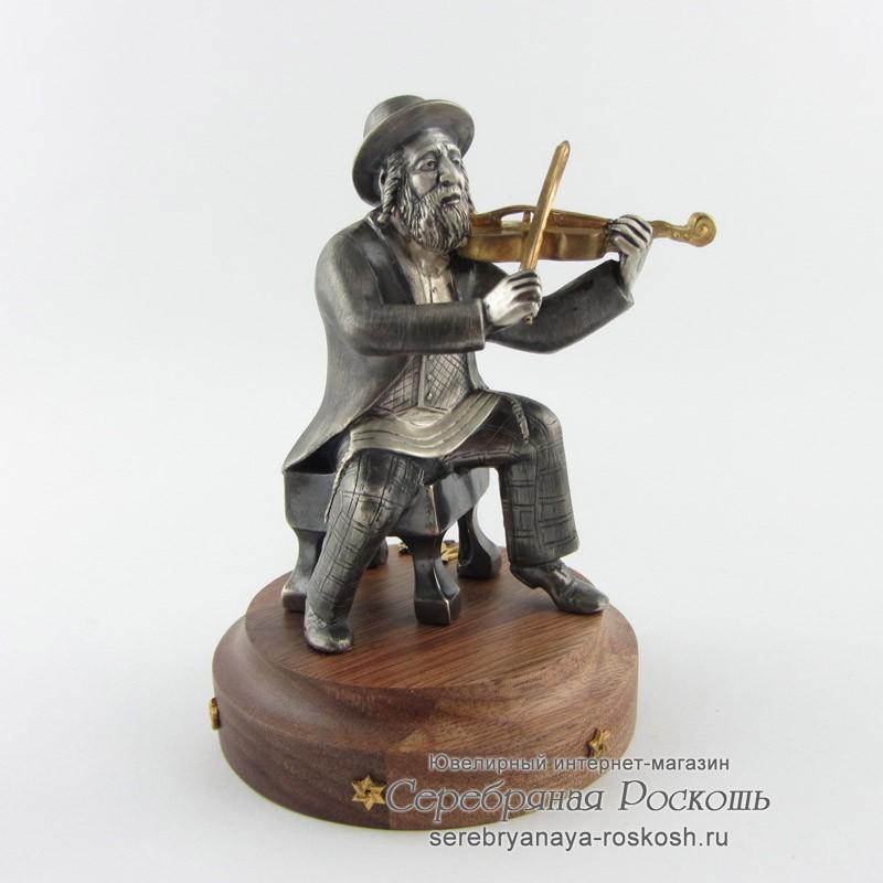 Статуэтка скрипач со скрипкой