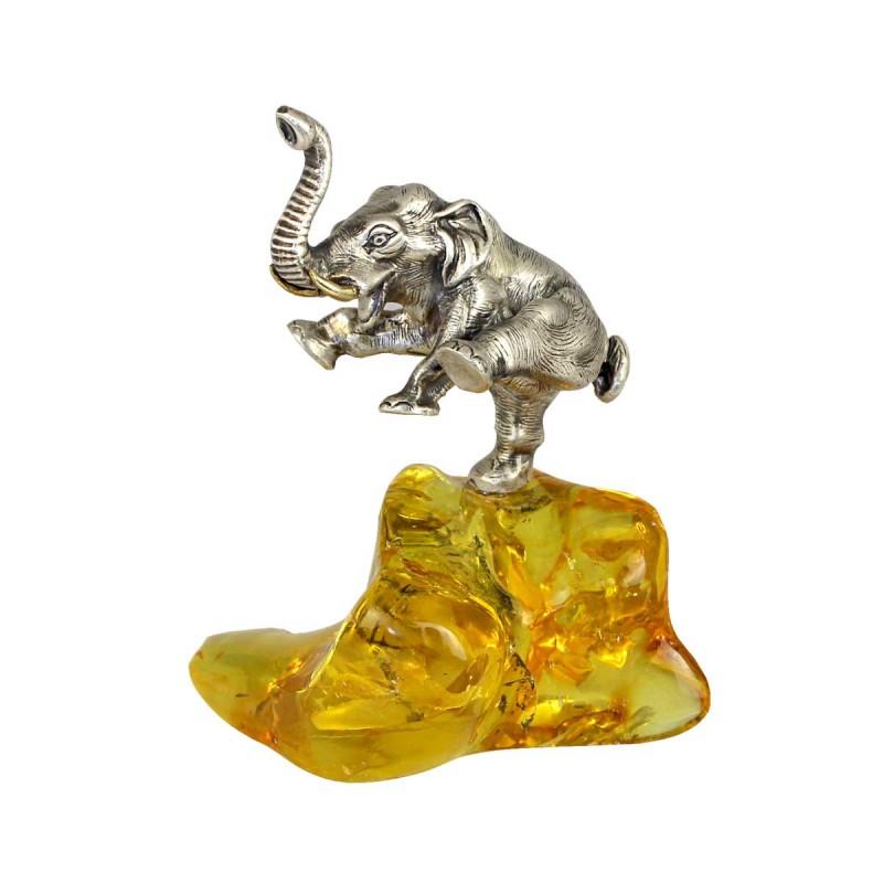 Статуэтка Слоник на янтаре