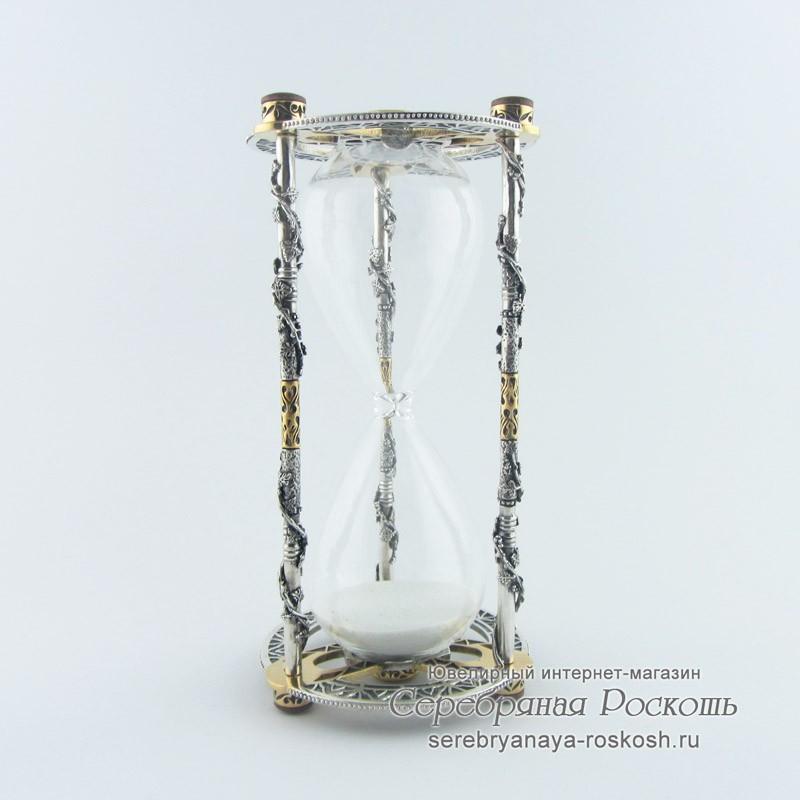 Серебряные песочные часы Виноградная лоза