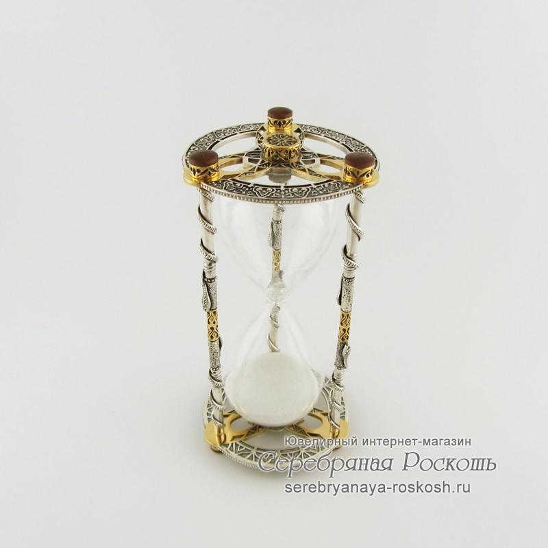 Песочные часы из серебра Змеи
